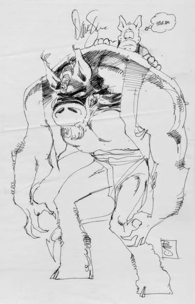 sym and cerebus by sienkiewicz
